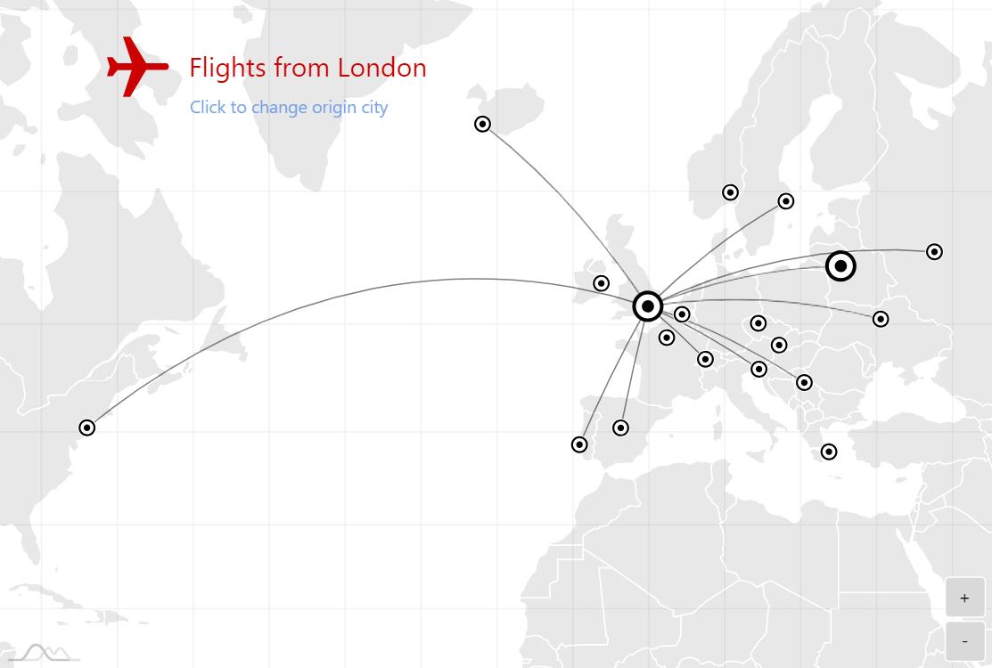 Flight Routes Map Amcharts