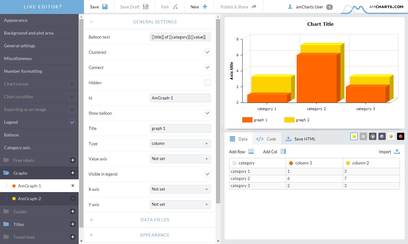 JavaScript Charts Visual Editor is now live - amCharts