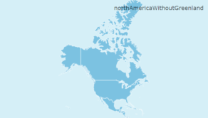 Map of North America without Greenland