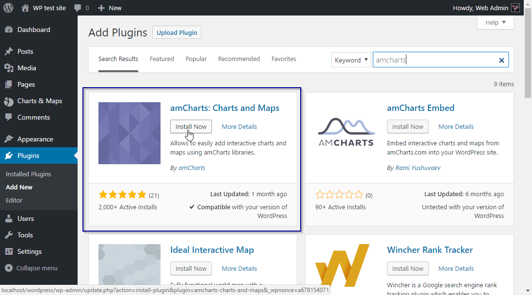 Using amCharts WordPress plugin - amCharts