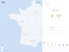 Weather Map France
