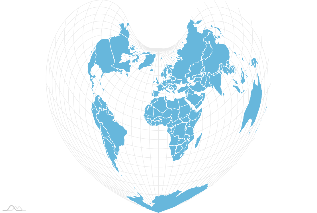 Map using D3 projections - amCharts on